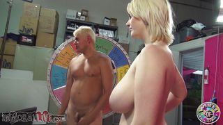huge boobs milky white blonde gives head