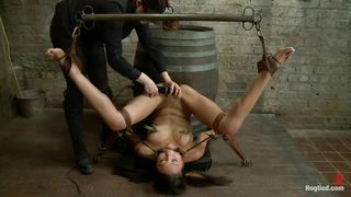 asian young slave getting punished for her sins