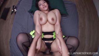 busty asian milf mizuki gets fucked in pov