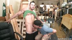 tattooed sexy guy with muscles getting his cock sucked