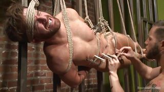 wolf and brendan get kinky with ropes