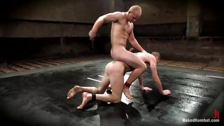 two hot guys wrestling to feel each others lust.
