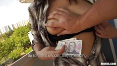 romaneta rosse showing her breasts for money