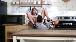 bad-ass ginger getting naughty in kitchen