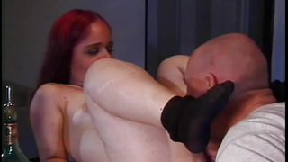 cock hungry redhead midget is horny