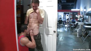 sexy latin dude sucking cock