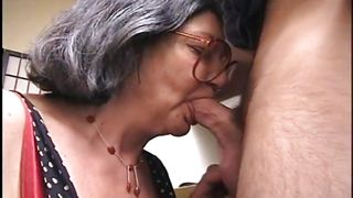 naughty grandma sucking dick