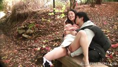 japanese couple fucking in the woods
