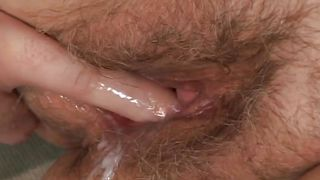 old hairy pussy gets cum @ look at the old people fucking #02