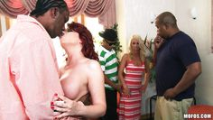 redhead mom likes it big and black