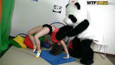 flexible slut getting panda's hard cock