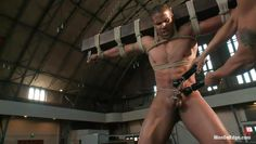 tied up gay get's his punishment