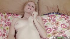 pale blonde with perfectly shaved vagina fucking