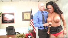 hot black babe getting fucked in the office