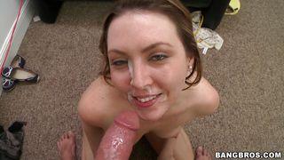hot semen for her cute slutty face