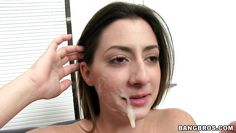 tiffany cross gets a wad of goo on her lips