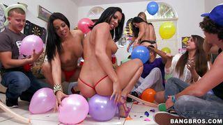 a wild dorm party