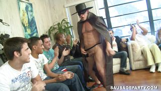 gay costume party where strippers are getting blowjobs