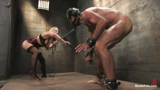 blonde milf torture musculed guy