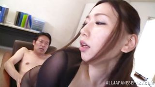 japanese babe in nylon costume discovers she's a whore