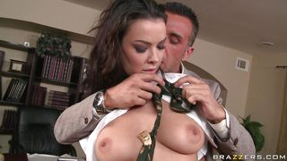 sophia gets licked on her big natural breasts