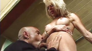 smoking hot blonde shemale fucking with a black gay