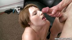 young nadia gets a load of cum on her face