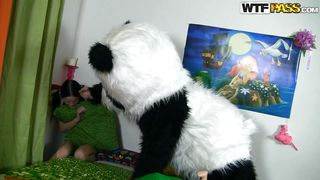 spoiled girl meets the panda