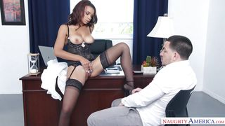 sexy clerk raven loves fucking with her boss