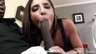 young slut sucking a big black cock