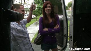 redhead on the bang bus