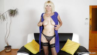 blonde czech lady gets undressed