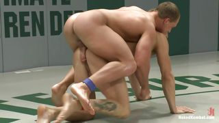 big boys wrestling and fucking hard