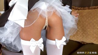 horny milf blonde kristal summers is maid's uniform