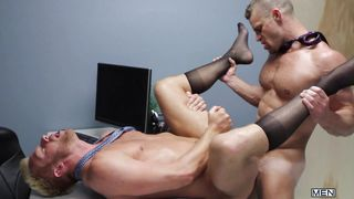 christopher and landon fuck hard on the table