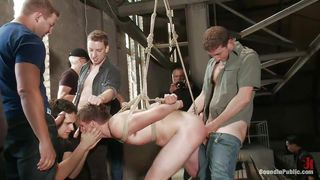 gang bang with tied pretty boy