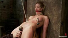 blonde milf taking her harsh punishment