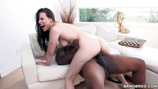 raven-haired honey gets impaled on a bbc