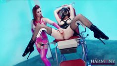 harmony vision two horny sluts in latex getting fucked