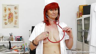 horny old nurse shows her best