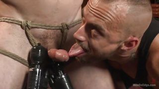 blindfolded stud gets dominated