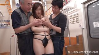 asian milf undresses in public transport