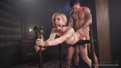 blonde milf held down and roughly fucked