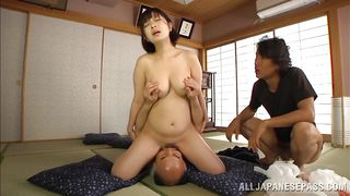 two guys and one slutty asian milf