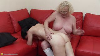 old woman lures the sexy milf