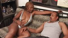 voluptuous black mamma sucks a hard one