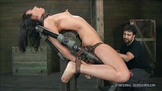 getting her pussy wet in a bdsm session