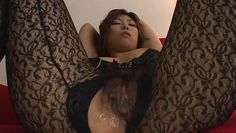 busty japanese slut sucks on a sex toy
