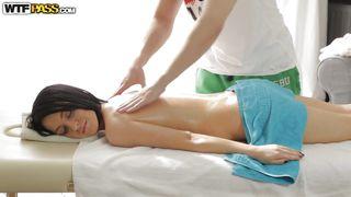hot chick meets dirty masseur