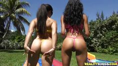 latinas have some fun outdoors